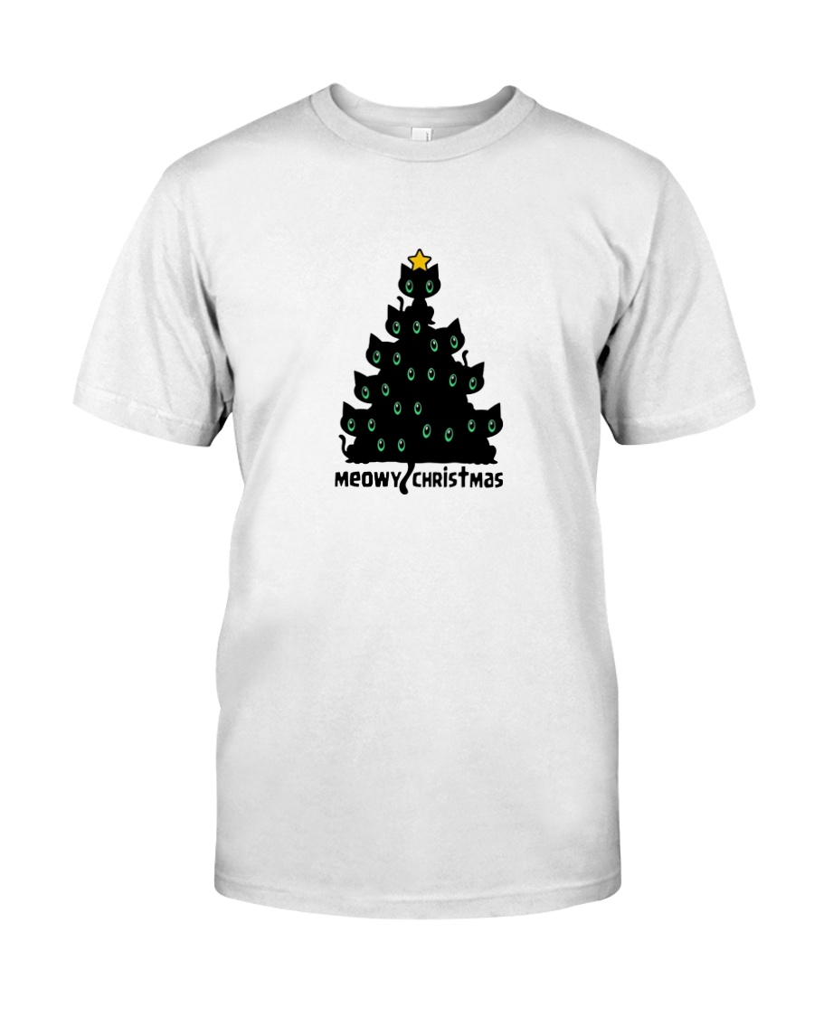 89e14a639 MERRY MEOWY CHRISTMAS TREE T-SHIRT Classic T-Shirt