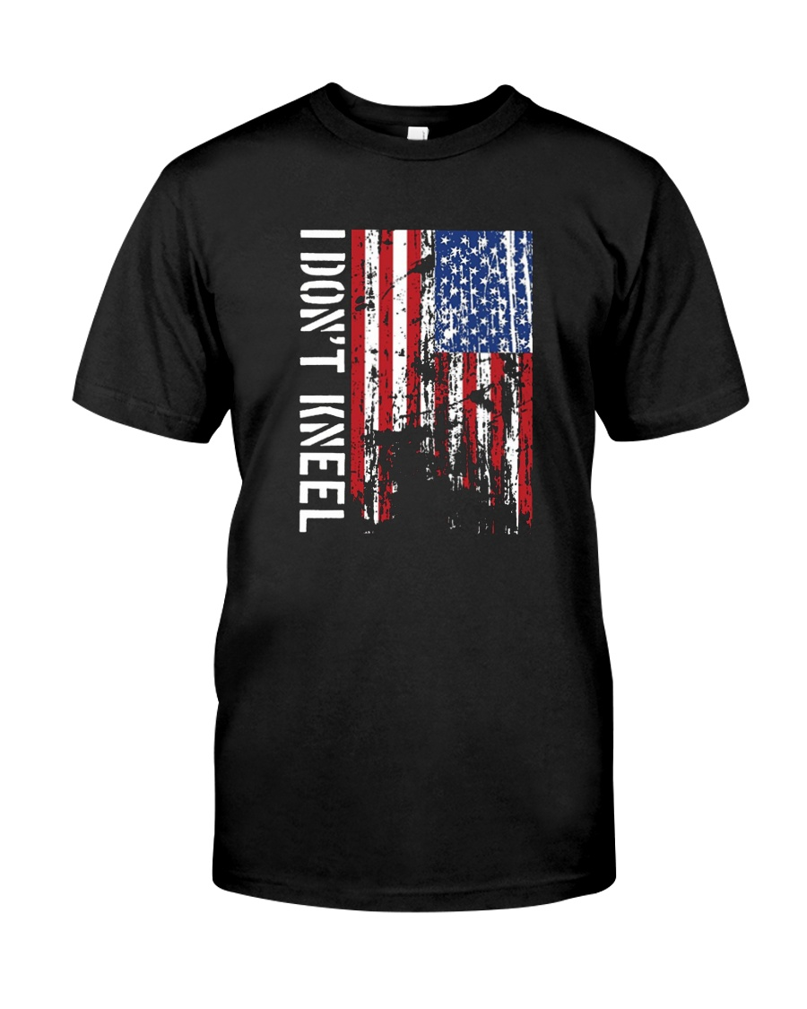 THIS VETERAN DOESN'T KNEEL T SHIRT Classic T-Shirt