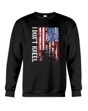 THIS VETERAN DOESN'T KNEEL T SHIRT Crewneck Sweatshirt thumbnail