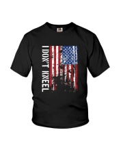 THIS VETERAN DOESN'T KNEEL T SHIRT Youth T-Shirt tile