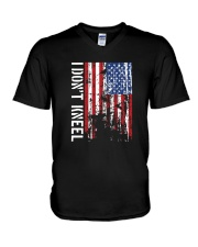 THIS VETERAN DOESN'T KNEEL T SHIRT V-Neck T-Shirt thumbnail