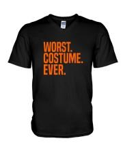 HALLOWEEN WORST COSTUME EVER FUNNY SHIRT V-Neck T-Shirt thumbnail