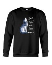 JUST A GIRL WHO LOVES WOLVES SHIRT Crewneck Sweatshirt thumbnail