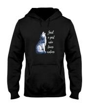 JUST A GIRL WHO LOVES WOLVES SHIRT Hooded Sweatshirt thumbnail