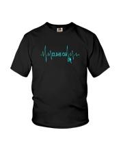 Rock Climbing Heartbeat T-Shirt Youth T-Shirt thumbnail