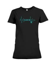 Rock Climbing Heartbeat T-Shirt Premium Fit Ladies Tee thumbnail