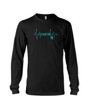 Rock Climbing Heartbeat T-Shirt Long Sleeve Tee thumbnail