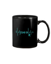 Rock Climbing Heartbeat T-Shirt Mug thumbnail