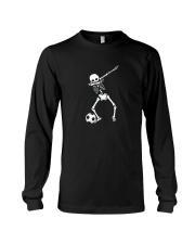 HALLOWEEN DABBING SKELETON SOCCER T-SHIRT Long Sleeve Tee thumbnail