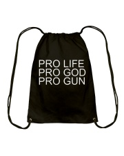 Pro Life Pro God Pro Gun Tee Shirt Drawstring Bag tile