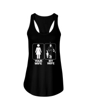 MENS YOUR WIFE MY WIFE FISHING T SHIRT Ladies Flowy Tank thumbnail