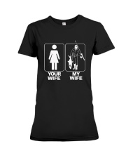 MENS YOUR WIFE MY WIFE FISHING T SHIRT Premium Fit Ladies Tee thumbnail