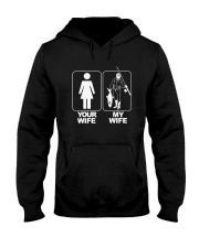 MENS YOUR WIFE MY WIFE FISHING T SHIRT Hooded Sweatshirt thumbnail