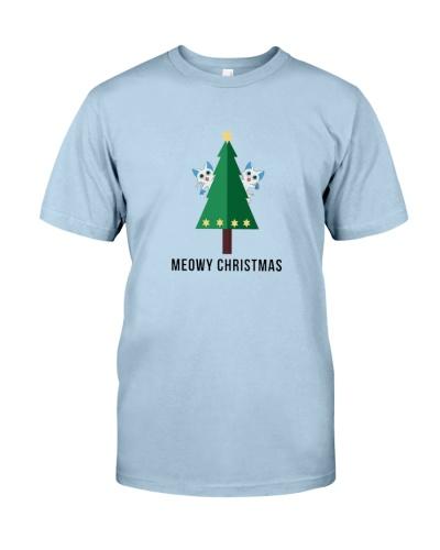 9b556d779 Merry Meowy Christmas Tree Cat Holiday T-Shirt | TeeChip