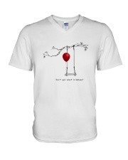 RED BALLOON HORROR HALLOWEEN T-SHIRT V-Neck T-Shirt thumbnail