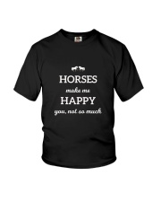 Horses Make Me Happy You Not So Much TShirt Youth T-Shirt thumbnail