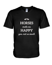 Horses Make Me Happy You Not So Much TShirt V-Neck T-Shirt tile