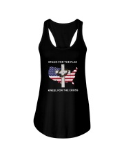 PATRIOTIC STAND FOR THE FLAG KNEEL SHIRT Ladies Flowy Tank thumbnail