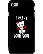 HALLOWEEN DEVIL CAT T-SHIRT Phone Case thumbnail