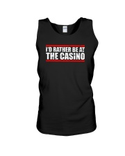 I'd Rather Be At The Casino Shirt Unisex Tank tile