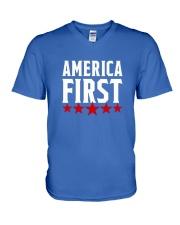 AMERICA FIRST T-SHIRT V-Neck T-Shirt thumbnail