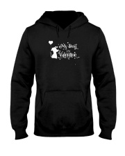 My Dog Is My Valentine Shirt Hooded Sweatshirt thumbnail