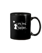 My Dog Is My Valentine Shirt Mug thumbnail