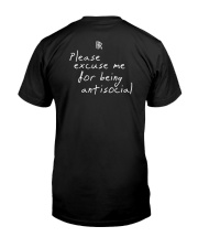 RoddyRicch Please Excuse Me Being Antisocial Shirt Classic T-Shirt back