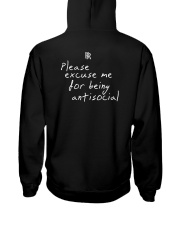 RoddyRicch Please Excuse Me Being Antisocial Shirt Hooded Sweatshirt back
