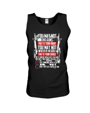 You May Not Like Guns Or God - That Is Your Right  Unisex Tank thumbnail