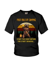 First Rule Of Camping Youth T-Shirt thumbnail