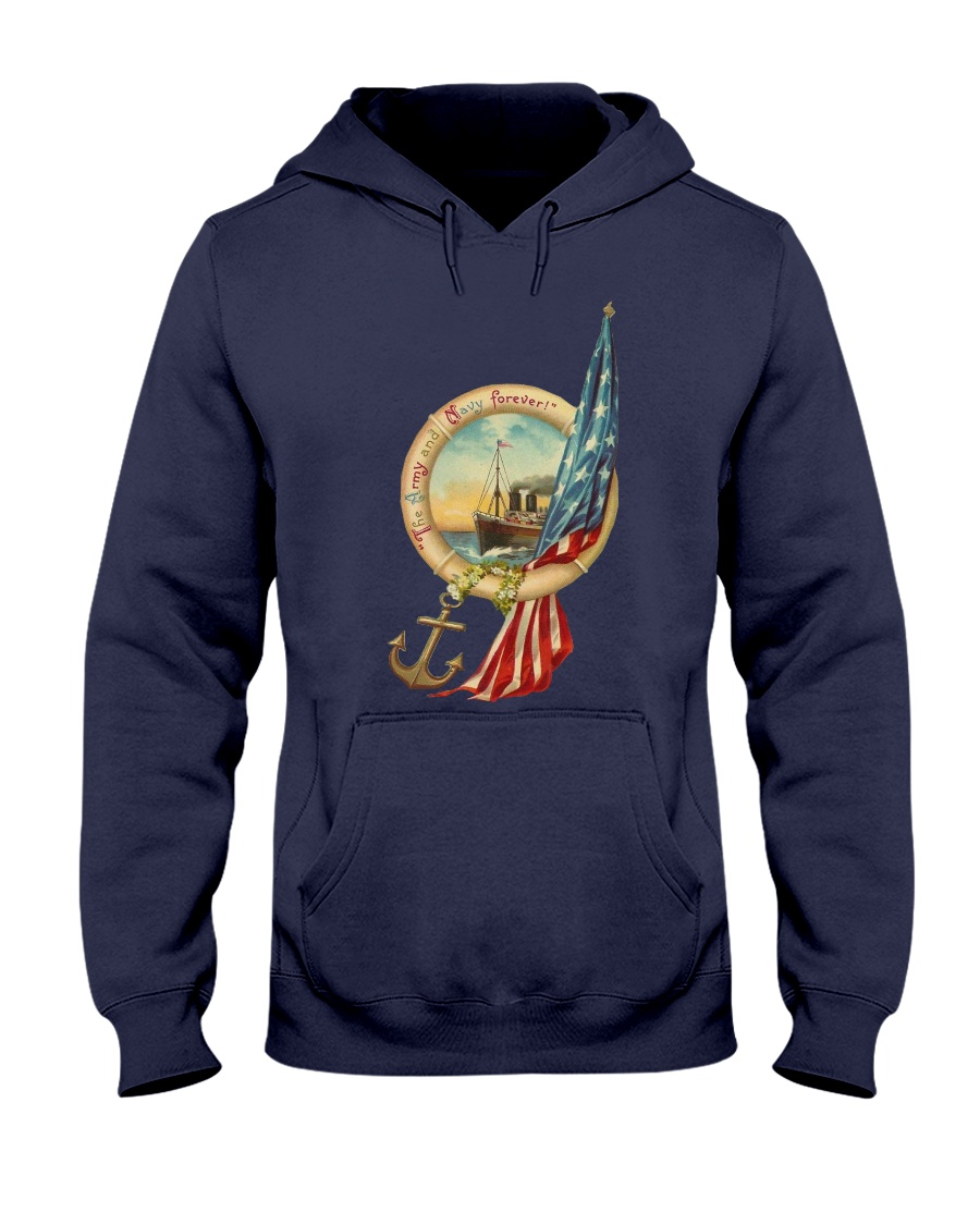 the army and navy forever Hooded Sweatshirt