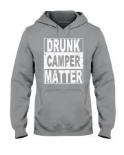 Drunk Camper Matter Hooded Sweatshirt front