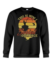 Hunting and Fishing Social Distance Crewneck Sweatshirt thumbnail