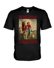 THE HORSE IN THEIR SOULS V-Neck T-Shirt thumbnail