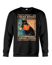That's What I Do I Read Books Crewneck Sweatshirt thumbnail