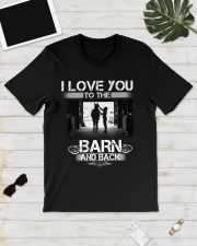 I LOVE U TO THE BARN AND BACK Classic T-Shirt lifestyle-mens-crewneck-front-17