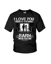 I LOVE U TO THE BARN AND BACK Youth T-Shirt thumbnail