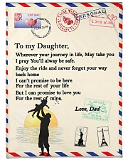 "TO MY DAUGHTER Large Fleece Blanket - 60"" x 80"" thumbnail"