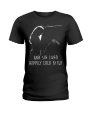 AND SHE LIVED HAPPILY EVER AFTER Ladies T-Shirt thumbnail