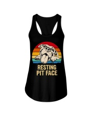 RESTING PIT FACE Ladies Flowy Tank thumbnail