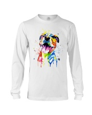 Resting Pitbull Face Artistic Long Sleeve Tee thumbnail