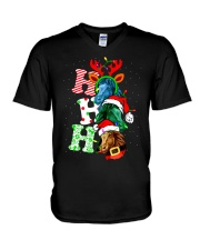 HORSE CHRISTMAS V-Neck T-Shirt tile