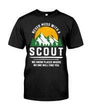 Never Mess With A Scout Classic T-Shirt front