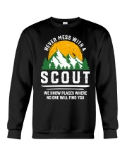 Never Mess With A Scout Crewneck Sweatshirt thumbnail