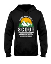 Never Mess With A Scout Hooded Sweatshirt thumbnail