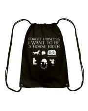 I want to be a horse rider Drawstring Bag thumbnail