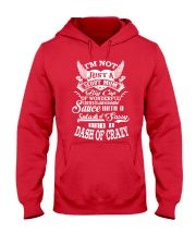 I'm not just a Scout Mom Hooded Sweatshirt front