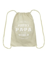 THE ONLY PERFECT PAPA Drawstring Bag tile