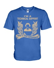 I'm a Technical Support V-Neck T-Shirt front